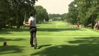 McIlroy envoie sa balle dans la poche d'un spectateur