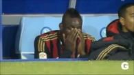 Balotelli en larmes sur le banc