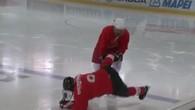 Les Saints s'essayent au hockey