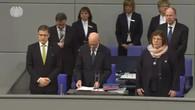 Bundestag gedenkt der Opfer des Flugzeugabsturzes