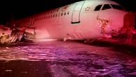 Airbus rutscht von  der Landebahn