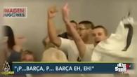 Des fans du Barça et du Real s'allument