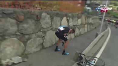 Chris Froome chute à la Vuelta