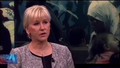 Schwedische Aussenministerin weint