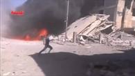 Zerstörung nach russischen Angriffen