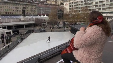 Champions! - Stéphane Lambiel patine sur la Riponne