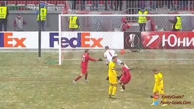 Les buts du match Rubin Kazan - Sion (2-0)