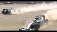 Les Mercedes se mettent KO après 30 secondes de course