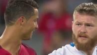 Ronaldo refuse son maillot à Gunnarsson