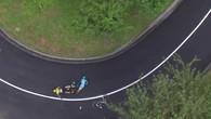 Chute de Chris Froome lors de la 19e étape du Tour de France