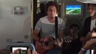 Marc Sway im Flieger nach Rio