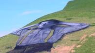 Une fresque géante sur un pâturage à Leysin