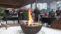 Feuerring im Schweizer Haus