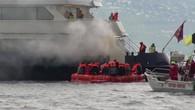 Exercice: un bateau de la CGN prend feu
