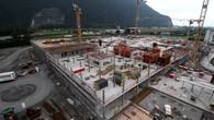 Hopital Riviera-Chablais: visite du chantier de Rennaz