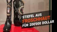 Stiefel aus Froschhaut und ein Stück der Berliner Mauer