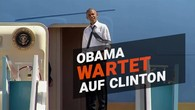 Genervter Obama an der Air Force One