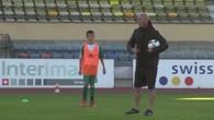 Zidane à l'entrainement avec les juniors