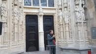 Pascal Broulis inaugure le nouveau portail de la cathédrale de Lausanne