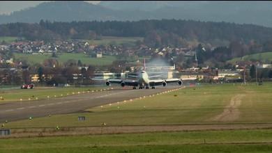 Boeing 747 landet in Dübendorf