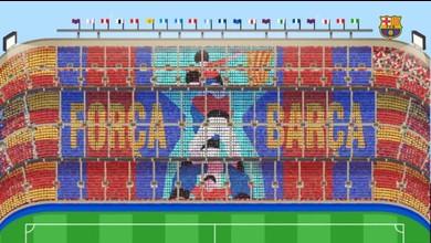 Le tifo géant du Barça