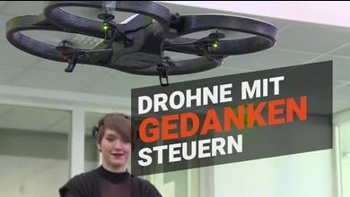 Drohne lässt sich mit Gedanken steuern