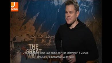 Matt Damon à propos de la Suisse