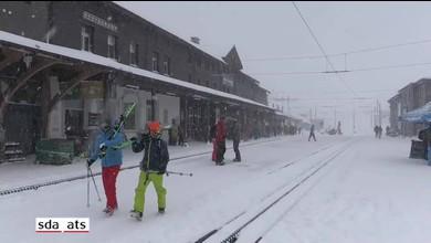 Chutes de neige abondantes à Wengen