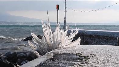 Eisspektakel am Genfersee
