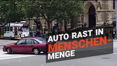 Autofahrer rast in Fussgängerzone