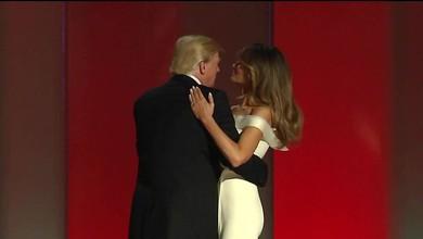 Erster Tanz als Präsidentenpaar