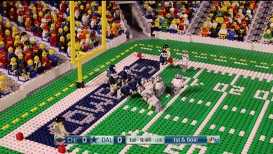 Ils refont le match en Lego