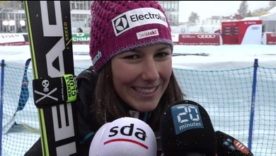Schweizer Doppelsieg - das sagen Holdener und Gisin