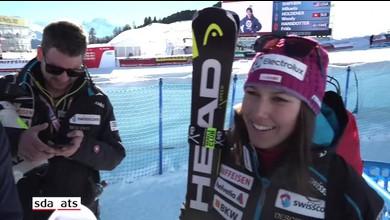 Holdener interviewée après St Moritz