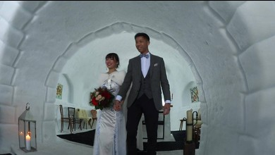 Mariage chinois dans un igloo