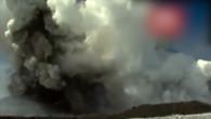 Kamerateam von Vulkanausbruch überrascht