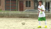 Heldenhafter Fussballer mit grossem Traum