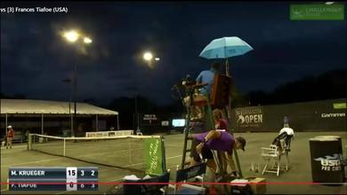 Les ébats d'un couple stoppent un match de tennis