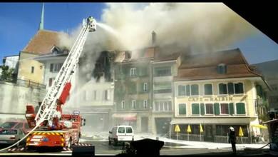 Incendie au centre de Payerne