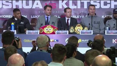 La présentation du combat Joshua-Klitschko