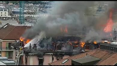 Les flammes ravagent un hôtel des Pâquis.