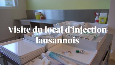 Visite du local d'injection lausannois