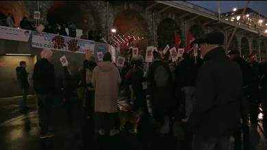 Manifestation contre l'interdiction de la mendicité