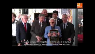 Aznavour a son étoile à Hollywood