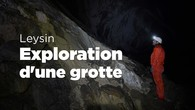 Exploration d'une grotte gigantesque à Leysin