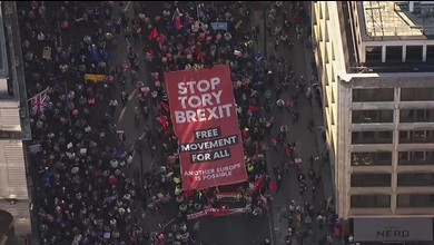 Briten protestieren in London für zweites Brexit-Referendum