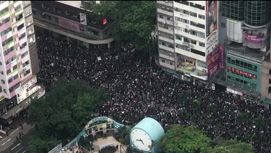 Hong Kong: nouvelle manifestation monstre